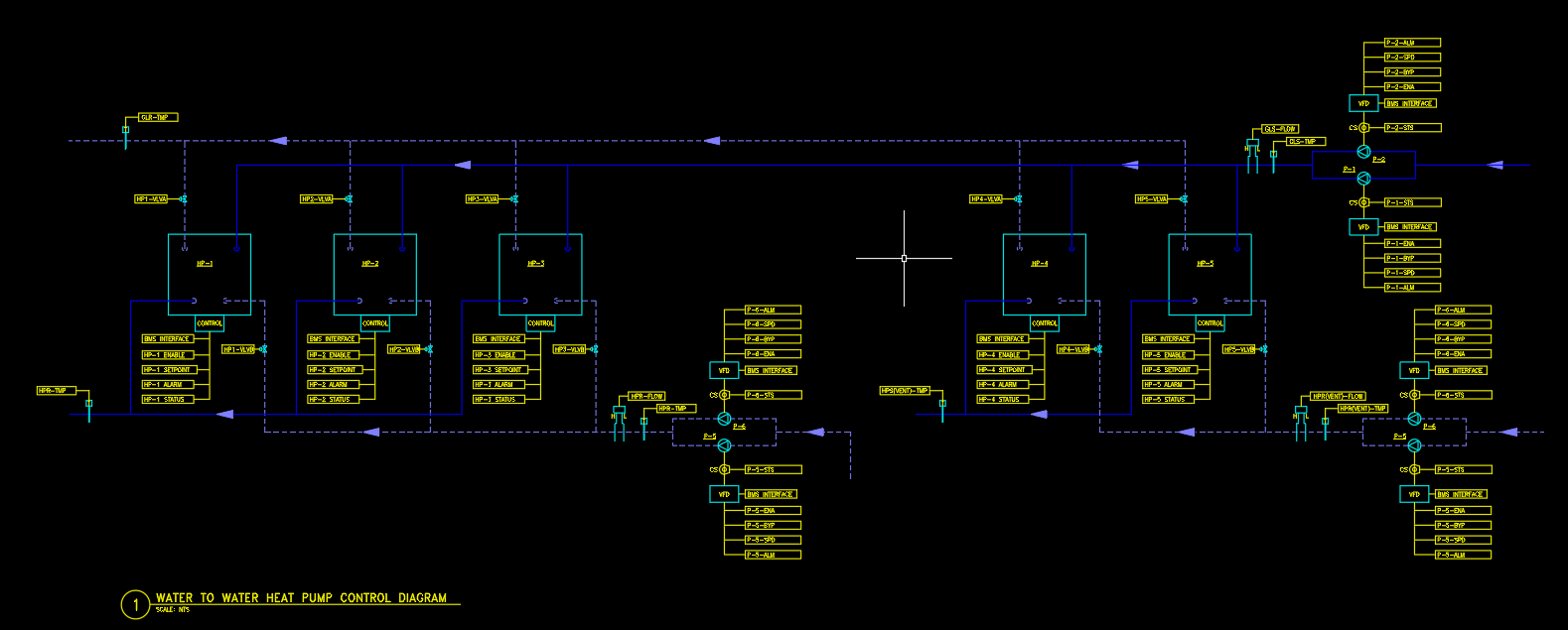Water to Water Heat Pump Control Diagram