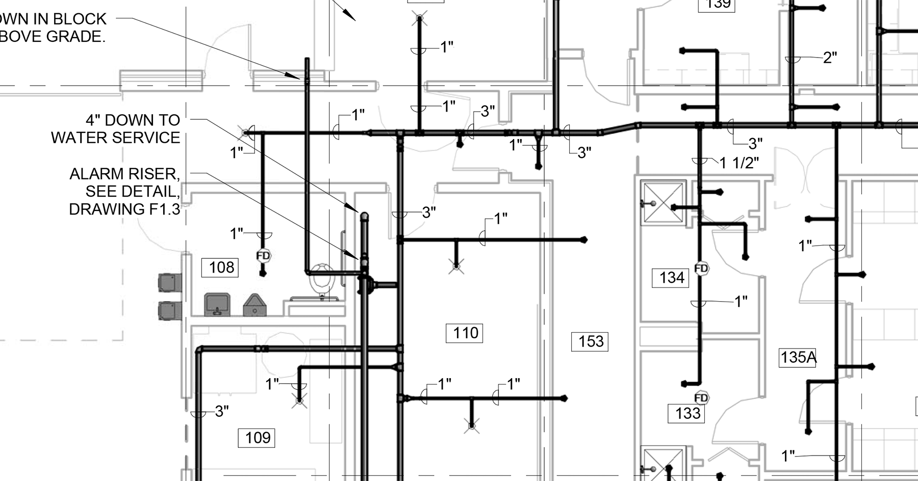 Fire Protection Floor Plan, detail