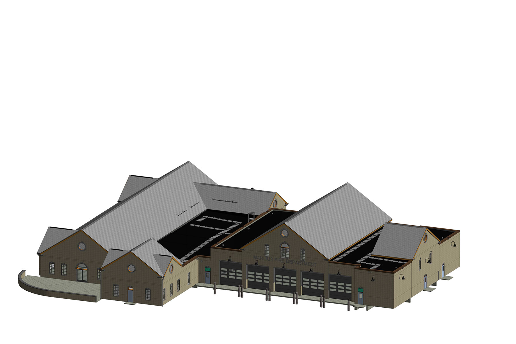 Rendering of full building